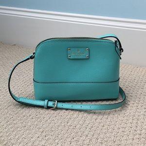 Barely used, tiffany blue cross body purse